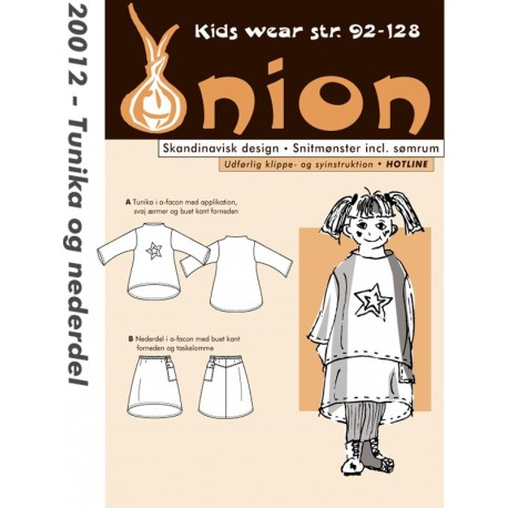 Tunika og nederdel onion snitmønster 20012