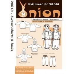 Sweat-shirt og buks onion snitmønster 20018