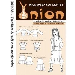 Tunika og slå om nederdel onion snitmønster 30018