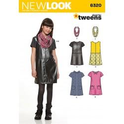 Retrokjole til piger Snitmønster New Look