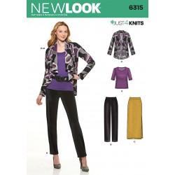 Bukser, jakke og bluse new look snitmønster 6315