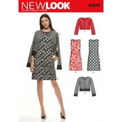 Kjole og jakke new look snitmønster 6302