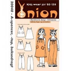Spencer, top og buksedragt onion snitmønster 20040