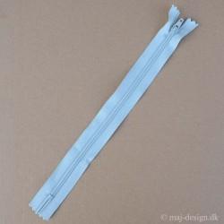 Lynlås 4mm sprial støvet lysblå længd 25 til 55 cm