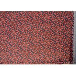 Denim m/Jordbær mørkeblå bund