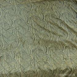 Lime farvet stof m/pallietter 140cm bred stræk