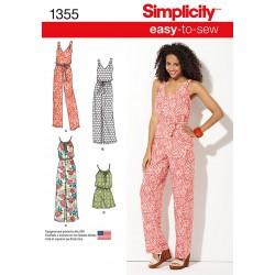 Kjole og buksedragt Simplicity snitmønster 1355