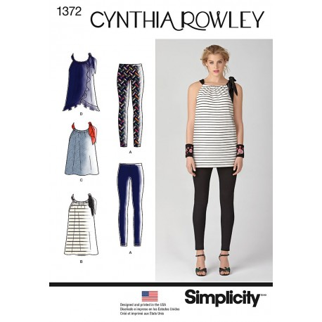 Leggings og tunika snitmønster Cynthia Rowley