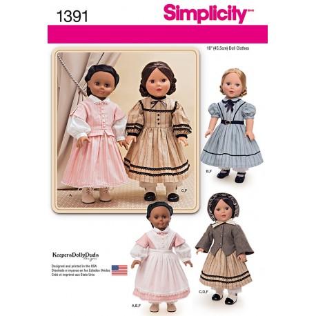Dukketøj 45,5 cm dukke snitmønster
