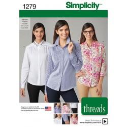 Skjortebluse snitmønster Simplicity