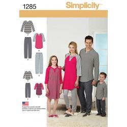 Pyjamas til hele familien snitmønster Simplicity