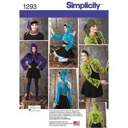 Kort jakke og huer i flere varianter snitmønster