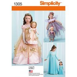 Kostume til piger/dukker 3 forskellige snitmønster