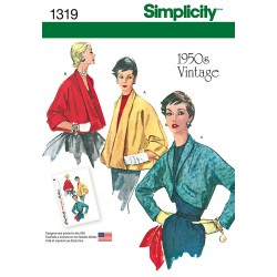 Retro/vintage kort jakke snitmønster Simplicity