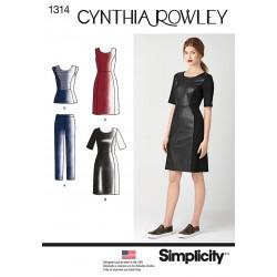 Kjole og bukser Cynthia Rowley snitmønster Simplicity