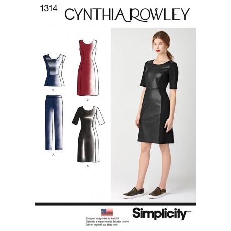 Kjole og bukser Cynthia Rowley snitmønster