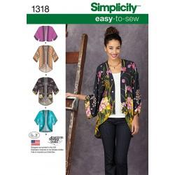 Kimono Jakke 4 varianter snitmønster easy
