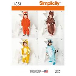 Kostume heldragt børn snitmønster Simplicity