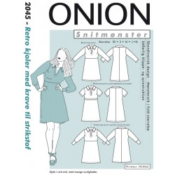 Retro kjole m/krave strikstof onion snitmønster