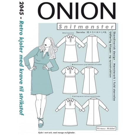 Retro kjole m/krave onion snitmønster 2045