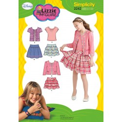 Simplicity Snitmønster 2242 Nederdel,top og jakke, Lizzie McGuire