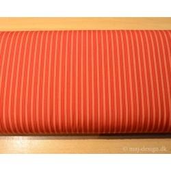 Bomuld stof rød stribet
