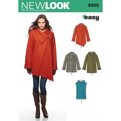 Kort frakke og vest Simplicity snitmønster new look easy