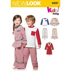 Pyjamas til børn snitmønster New look easy