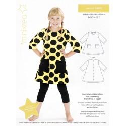 A-kjole 0-10 år Minikrea snitmønster 50010