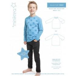 Raglan T-shirt 0-10 år Minikrea snitmønster 50222