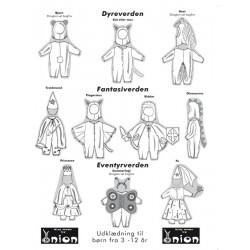 Udklædning til børn onion snitmønster 40003