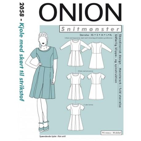 Onion Snitmønster 2059 (Kjole med skørt til strikstof)