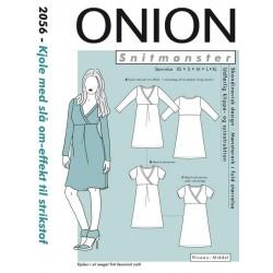 Kjole med slå om effekt Onion snitmønster 2056
