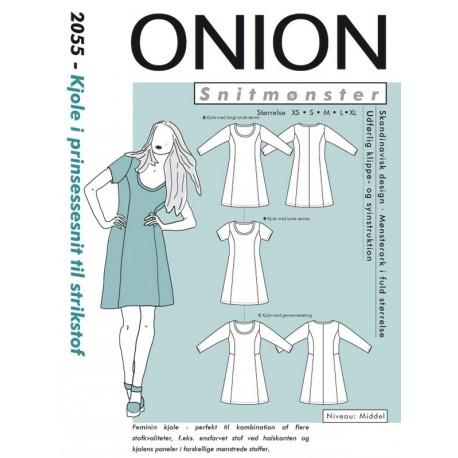Kjole prinsessesnit Onion snitmønster 2055