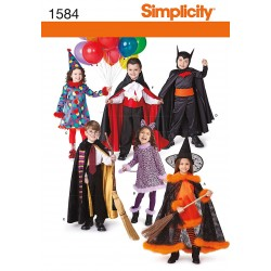 Harry Potter, klovn, Batman, kostume børn Snitmønster 1584 simplicity