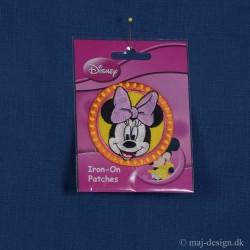 Minnie Mouse strygemærke Ø 6,5 cm