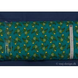 Krokodille m/gul kasket Bomuld/lycra børnestof