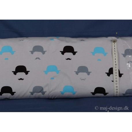Hat og skæg på grå bund Bonuld-Lycra
