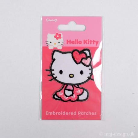Hallo Kitty m/Kjole 6,5x5 cm strygemærke