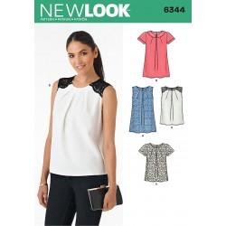 Bluse 4 varianter snitmønster New Look 6344
