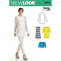Tunika m/netærmer snitmønster New Look easy
