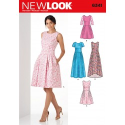 Kjole 5 varianter snitmønster New Look