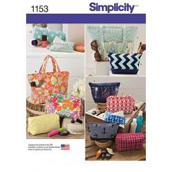 Taske og toiletpung flere varianter snitmønster simplicity 1153