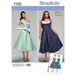 Vintage kjole også plusmode snitmønster