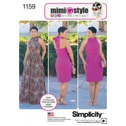 Kjole 3 varianter Mimi G style snitmønster simplicity 1159