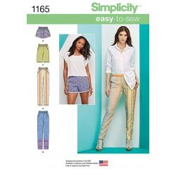 Bukser og shorts Simplicity snitmønster 1165 easy-to-sew