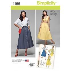 Vintage 1950érne nederdel skjorte og top også plusmode snitmønster
