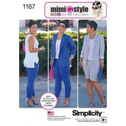 Bukser og jakke Simplicity snitmønster 1167 Mimi G Style