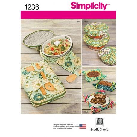 Brødkurve og skåledækken Simplicity snitmønster 1236