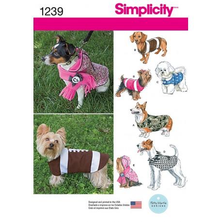 Hunde dækken til små hunde Simplicity snitmønster 1239